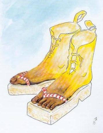 art cartoon, slippers