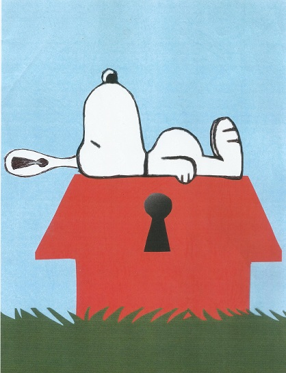 Snoopy is being watched
